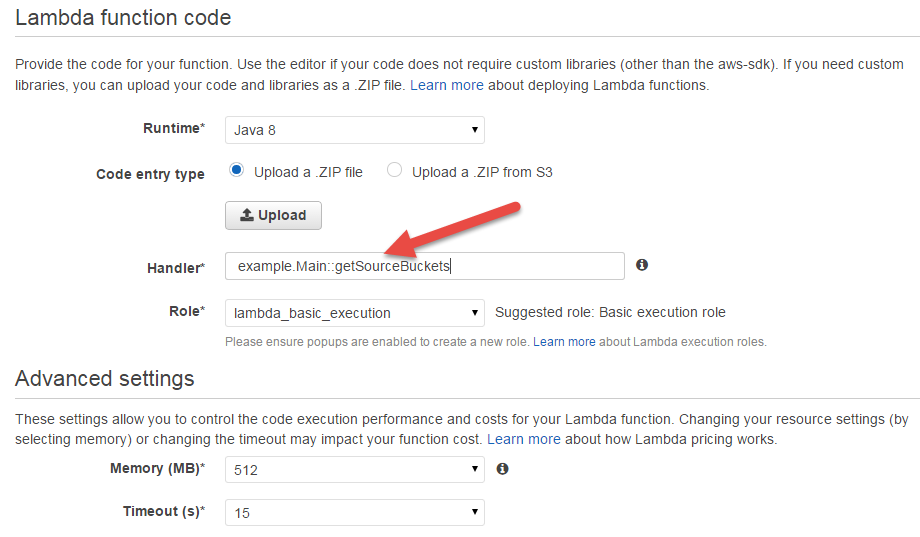 Scala Upload in the AWS Lambda Console